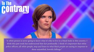 A white person is never going to know what it is like to live in a Black body in this country.